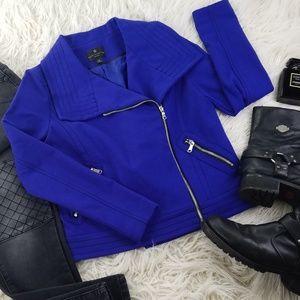Worthington 🕶 Cobalt Blue Fully Lined Moto Jacket